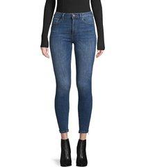 dl1961 premium denim women's fringed-cuff jeans - marcos - size 23 (00)