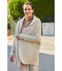 beżowy sweter z kapturem aurel
