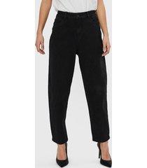 jeans vero moda negro - calce holgado