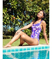 samui tie dye strappy back tummy control one-piece swimsuit