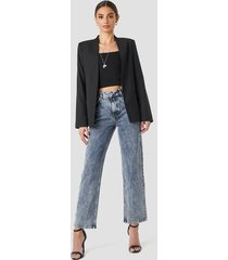 na-kd trend front pleat jeans - blue