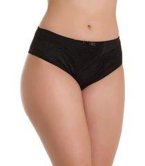 calcinha imi lingerie cã³s alto cintura alta em microfibra e renda vanusa preta multicolorido - multicolorido/preto - feminino - dafiti