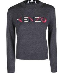 kenzo grey wool jumper