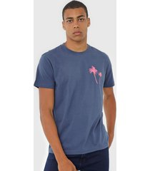 camiseta osklen coqueiros azul - azul - masculino - algodã£o - dafiti