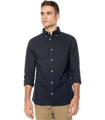 camisa azul navy jack & jones