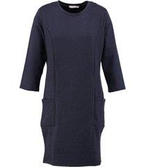 geisha dunnere blauwe sweater jurk 3/4 mouw