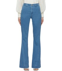 twisted seam detail flared jeans