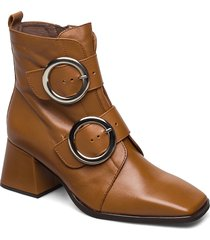 h-4306 shoes boots ankle boots ankle boot - heel brun wonders