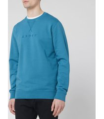 edwin men's katakana sweatshirt - saxony blue - xl