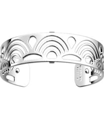 les georgettes by altesse loop openwork thin adjustable cuff poisson bracelet, 14mm, 0.5in