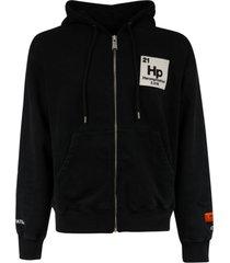 heron preston zip up hoodie