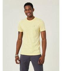 camiseta slim botonê malwee amarelo - xgg