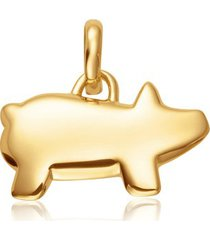 gold chinese zodiac bessie the pig pendant charm