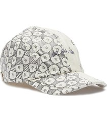 'not for sale' star doodle print patchwork baseball cap