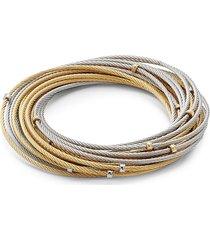 alor women's classique 18k gold & stainless steel multi-strand bracelet