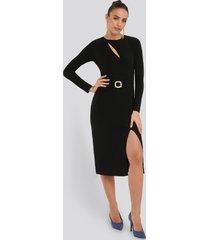 trendyol accessory detail dress - black