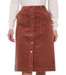 barbour rebecca corduroy skirt