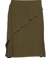 sand washed draped skirt kort kjol grön rabens sal r