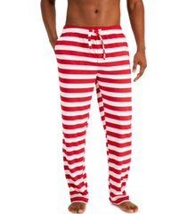 club room men's holiday fleece pajama pants, created for macy's