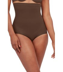 spanx(r) higher power shaper panties, size 1x in chestnut brown at nordstrom