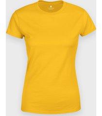damska koszulka (bez nadruku, gładka) - żółta