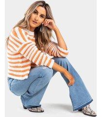 demy striped sweater - orange