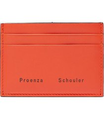 proenza schouler origami card holder hot coral/orange one size