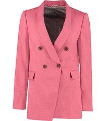 brunello cucinelli cotton-linen blend blazer