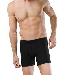 schiesser boxershort authentic 2pak met gulp zwart