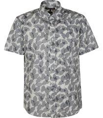 michael kors all-over leaf printed shirt
