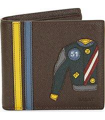 brasai leather bi-fold wallet