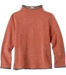 fleece pullover, roestoranje/antraciet s