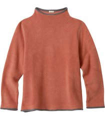 fleece pullover, roestoranje/antraciet m