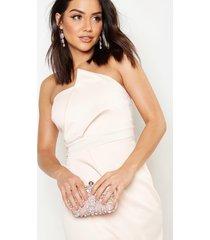 bandeau wrap detail split maxi bridesmaid dress, blush
