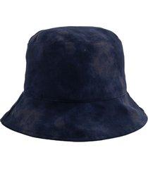 sombrero azul bohemia gabardina
