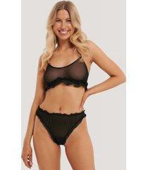 na-kd lingerie mesh-string - black