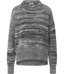 trui van 100% katoen met opstaande halsboord van peter hahn zwart