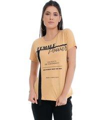 t-shirt pkd concept eco female power amarela - kanui