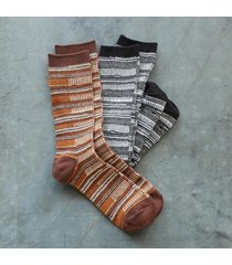 dapper stripe socks s/2
