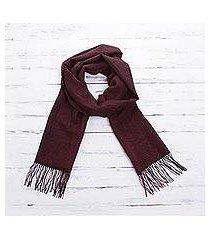 100% alpaca scarf, 'cabernet' (peru)