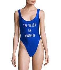 the beach or nowhere 1-piece swimsuit