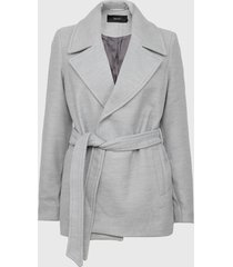 abrigo vero moda gris - calce regular