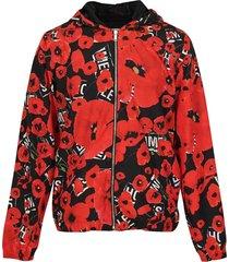 poppy print lightweight jacket
