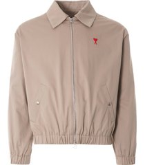 ami ami de coeur zipped jacket | beige | h0w013.288