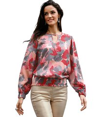 blouse amy vermont grijs::roze::koraal