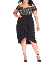 plus size women's city chic glamour lace dress