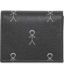mr. thom icon print double card holder dark grey