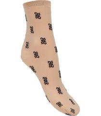 fendi ff karligraphy motif socks - neutrals