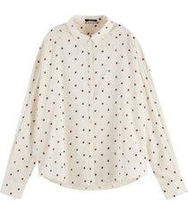 blouse cotton modal gebroken wit
