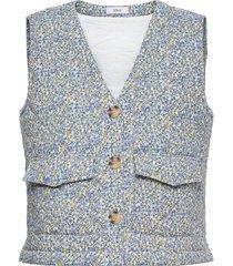 enbasil waistcoat 6829 vests knitted vests blå envii